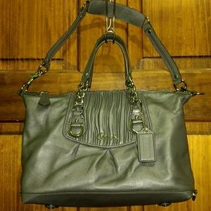 Coach Ashley Gathered Leather bag Satchel F17647